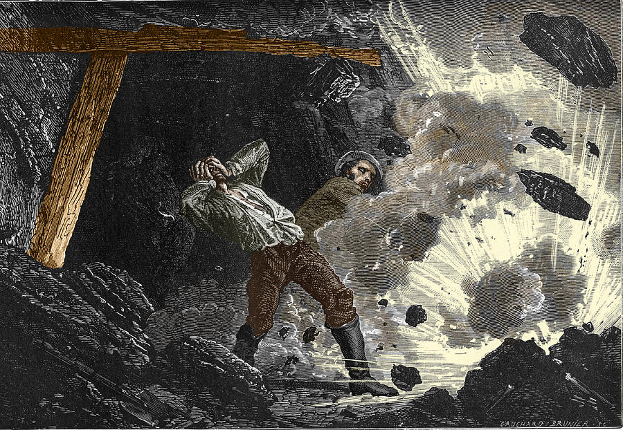 Disaster Photograph - Coal Mine Explosion, 19th Century by Sheila Terry