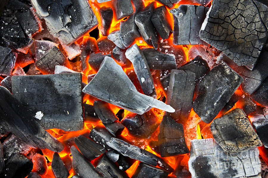 Ash Photograph - Coals In The Fire by Mongkol Chakritthakool
