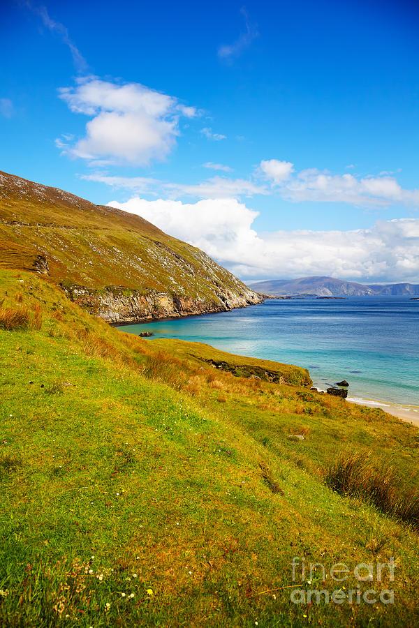 Mayo Coast Photograph - Coast At Keem Bay On Achill Island by Gabriela Insuratelu