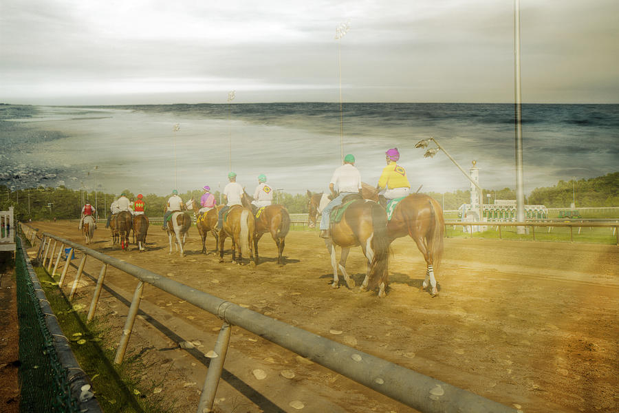 Horses Digital Art - Coast Line by Betsy Knapp