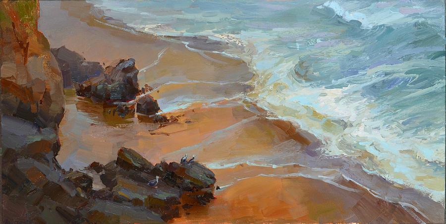 Oil Painting - Coastal Atmosphere by Tonya Zenin