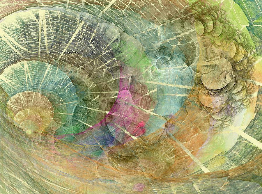 Fractal Digital Art - Coastal Cosine Gem  by Betsy Knapp