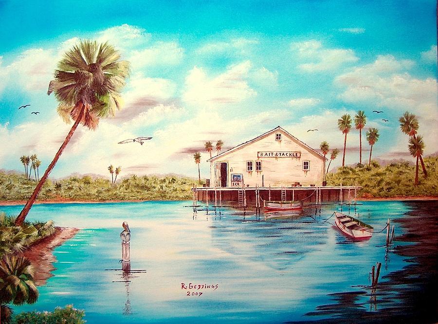 Artwork Painting - Coastal Glades by Riley Geddings