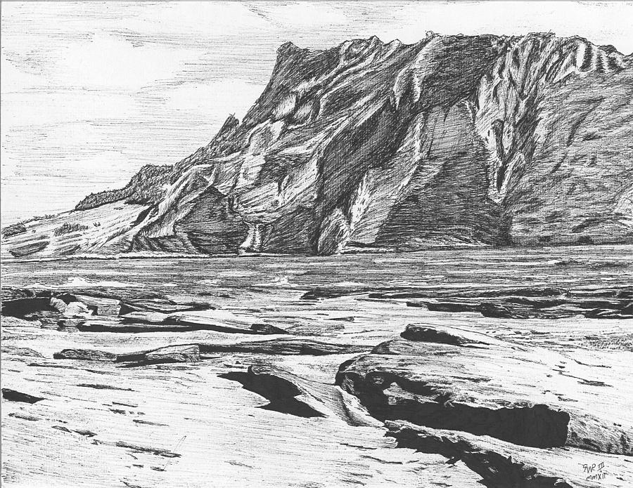 Coastal landscape drawing by reppard powers for What is landscape drawing