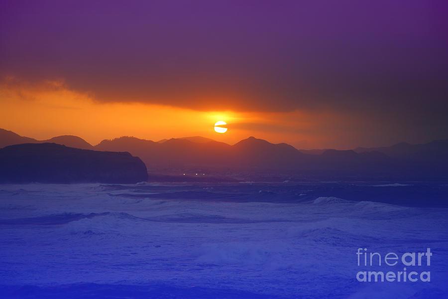 Sunset Photograph - Coastal Sunset by Gaspar Avila