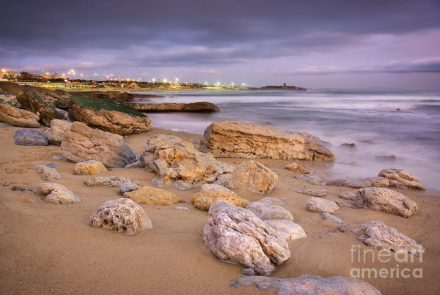 Background Photograph - Coastline At Twilight by Carlos Caetano