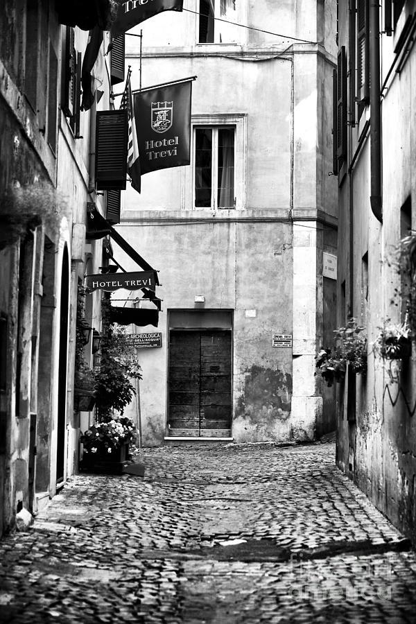 Alley Photograph - Cobblestone In Rome by John Rizzuto