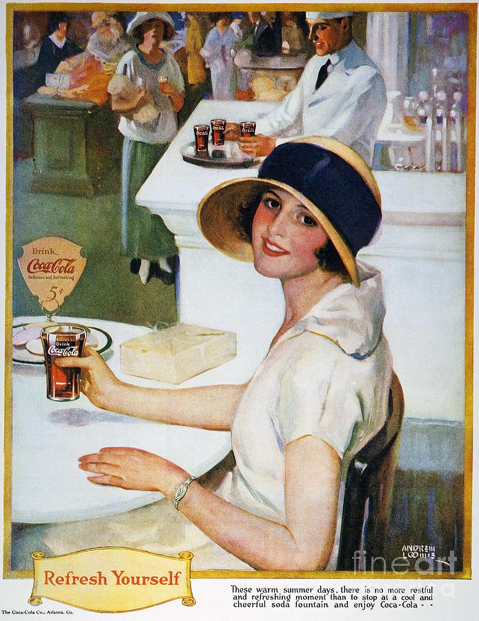 Coca Cola Ad 1924 Photograph By Granger