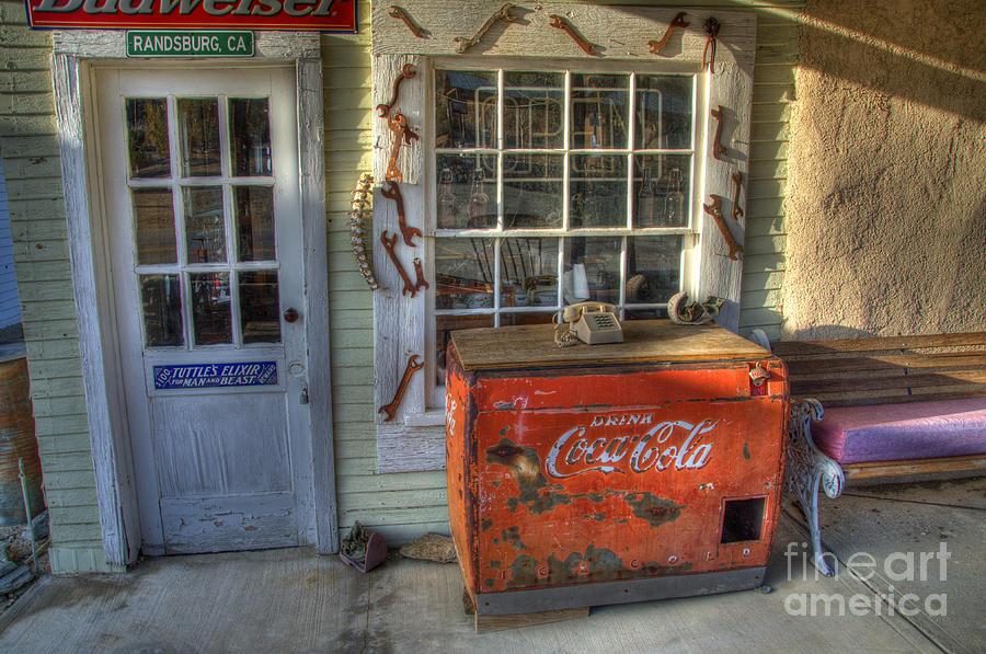 Coca Cola Photograph - Coca Cola Cooler Randsburg by Bob Christopher