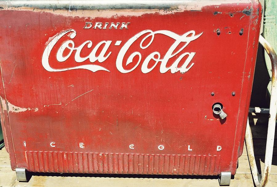 Cooler Photograph - Coca Cola by Trent Mallett
