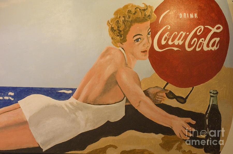 Coke Photograph - Coca Cola  Vintage Sign by Bob Christopher