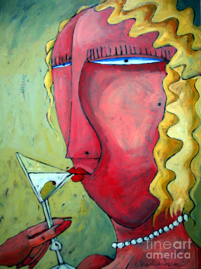 Cocktails Painting - Cocktail Hour by Charlie Spear