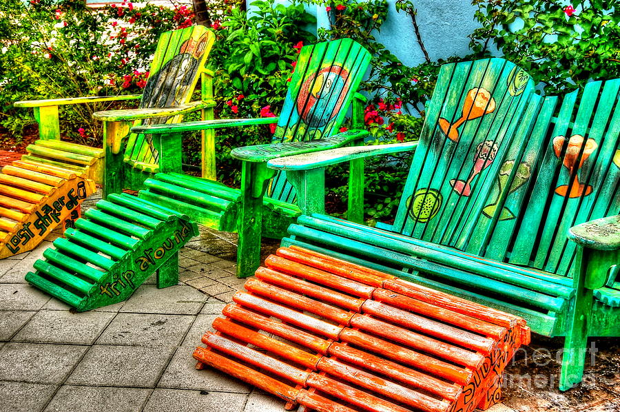 Chair Photograph - Cocktails Anyone by Debbi Granruth