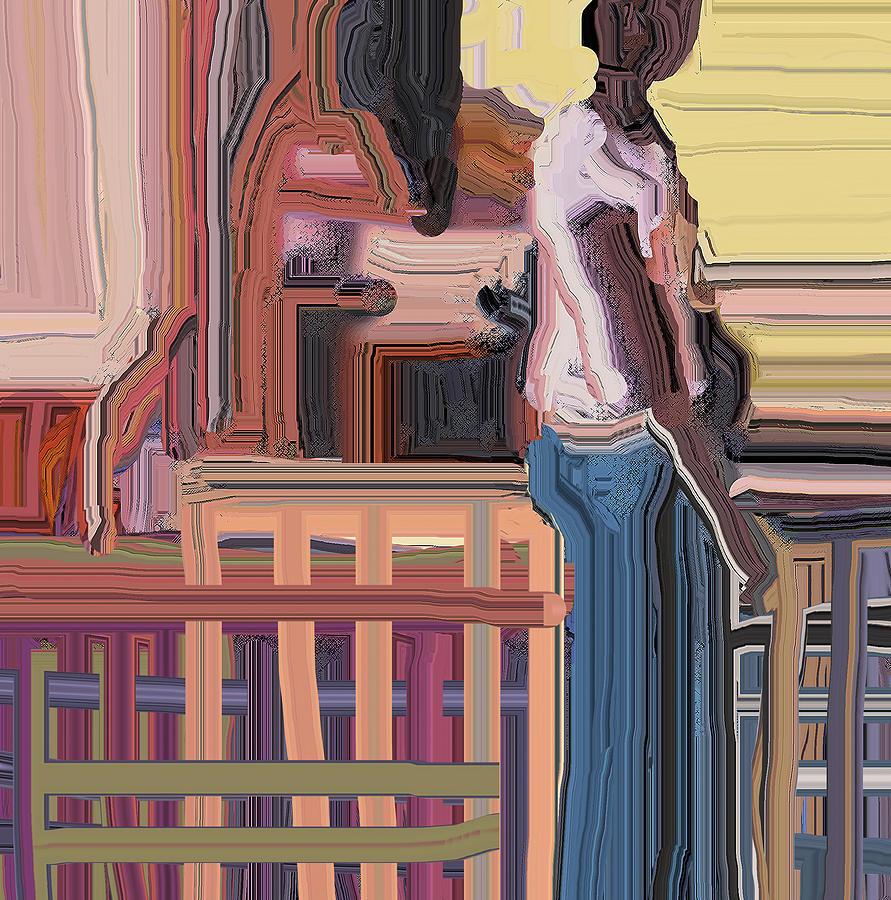 Abstract Digital Art - Coconutman by Ian  MacDonald