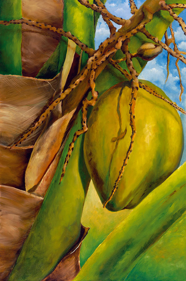 Cocos Painting - Coconuts Serie 2 by Jose Romero
