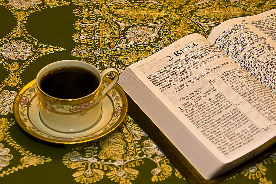 Study Photograph - Coffee And Bible by Trudy Wilkerson