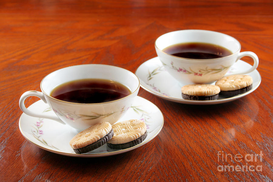 Biscuits Photograph - Coffee And Cookies by Darren Fisher