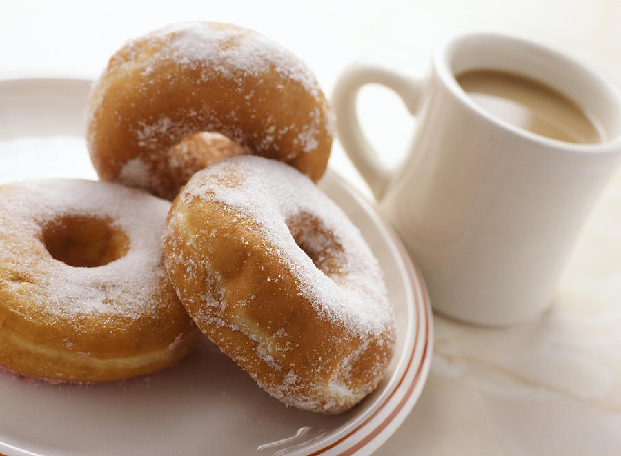 Coffee Photograph - Coffee And Doughnuts by Erika Craddock