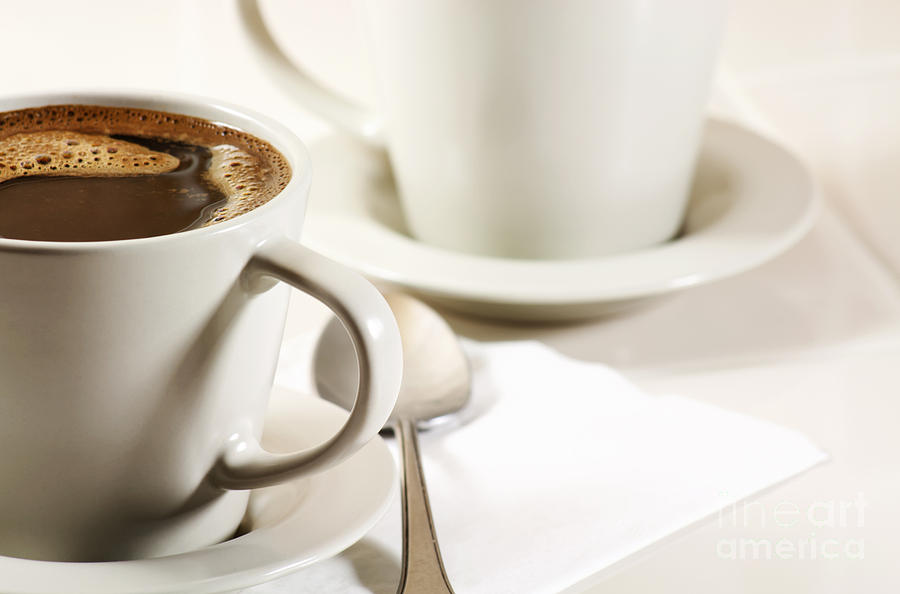 Coffee Photograph - Coffee In Cup by Blink Images