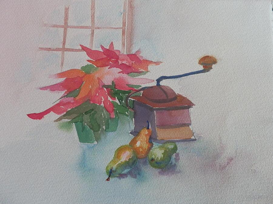 Still Life Painting - Coffee Mill  by Jann Elwood