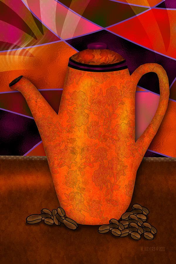 Coffee Digital Art - Coffee Pot by Melisa Meyers