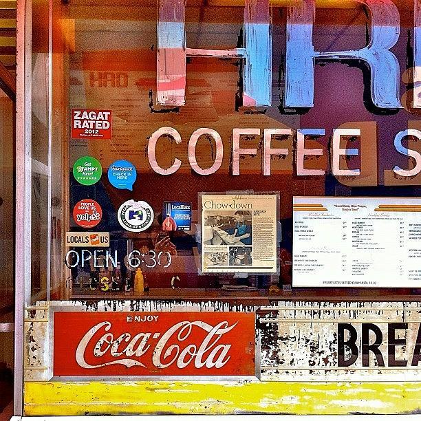 Sanfrancisco Photograph - Coffee Shop Window by Julie Gebhardt