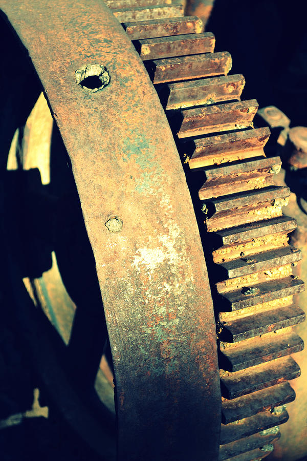 Machinery Photograph - cog by Diane montana Jansson