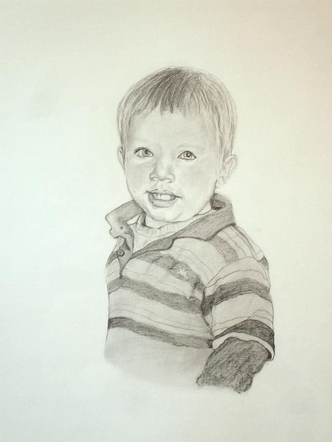 Pencil Drawing - Cohen by Peter Edward Green