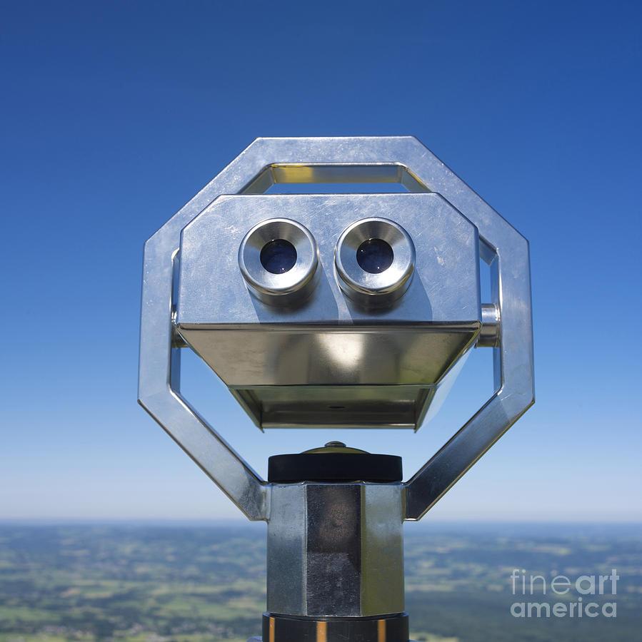 Hand-held Telescope Photograph - Coin-operated Binoculars by Bernard Jaubert