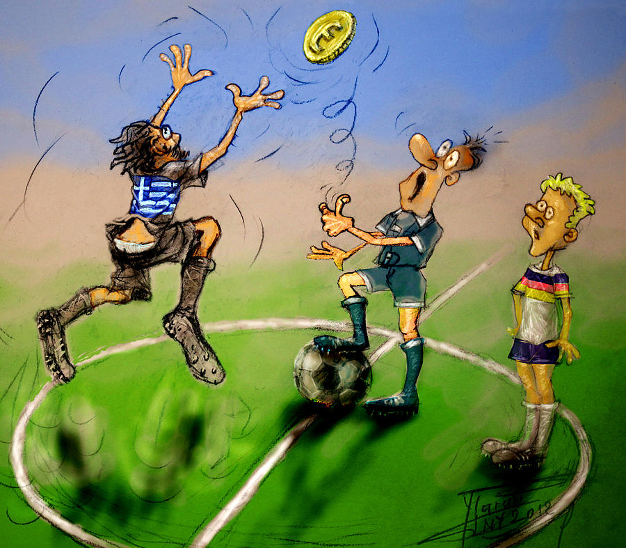 Coin Toss Mixed Media - Coin Toss  by Ylli Haruni