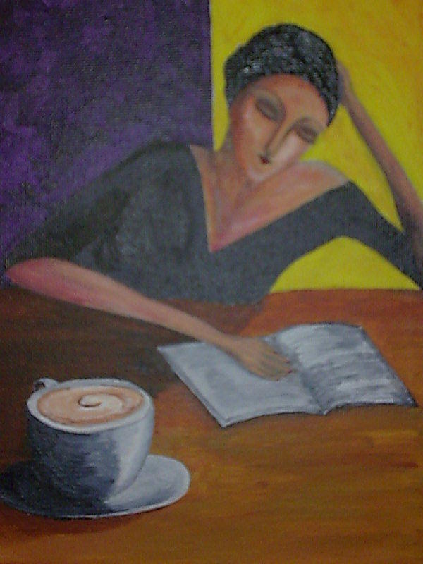 Coffee Painting - Cold Coffee by Siobhan Lawson
