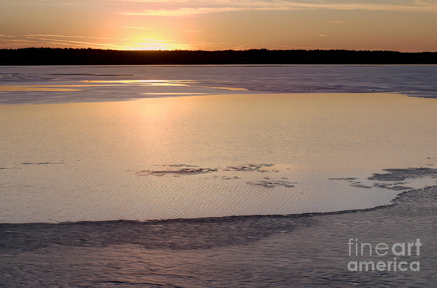 Prairie Sunset Photograph - Cold Lake Sunset by Art Whitton
