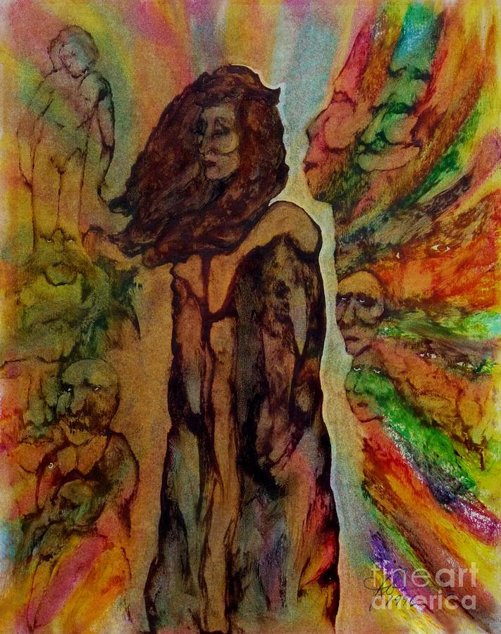 Woman Painting - Cold Shoulder by Linda May Jones