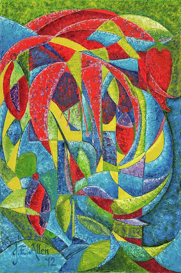 Colibri Painting - Colibri by Joseph Edward Allen