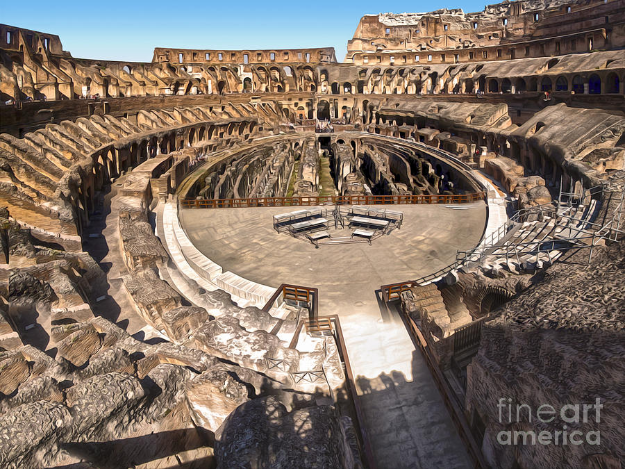 Coliseum Photograph - Coliseum by Gregory Dyer