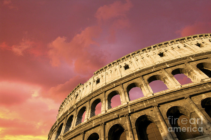 Worth Photograph - Coliseum. Rome. Lazio. Italy. Europe by Bernard Jaubert