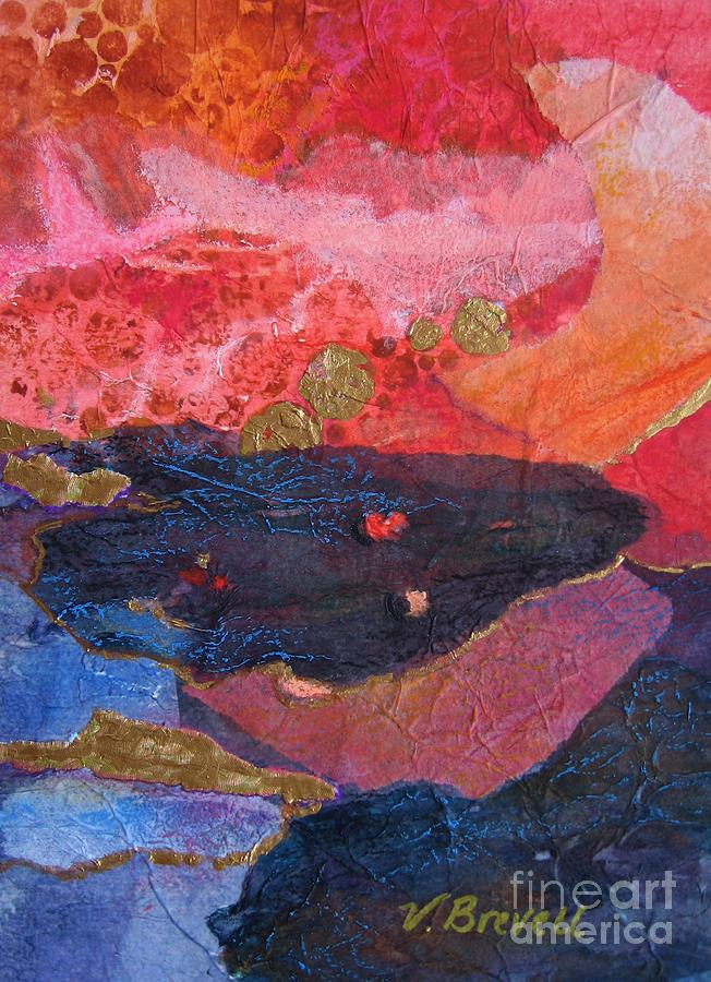 Collage in Reds by Vicki Brevell