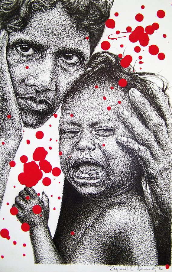 Collateral Damage Drawing by Reginald Charles Adams