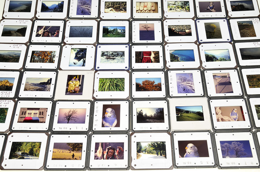 collection of color slides photograph by matthias hauser