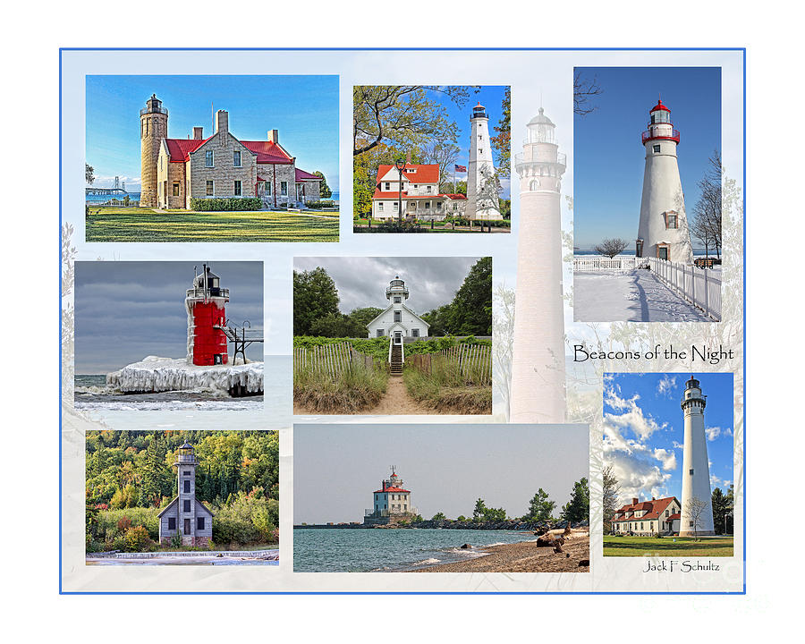 Lighthouses Photograph - Collection Of Lighthouses by Jack Schultz