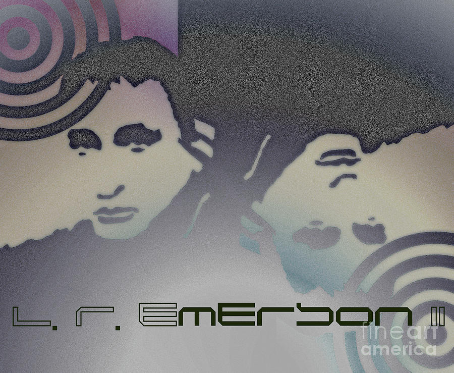L. R. Emerson Ii Photograph - Collectors Poster Of Upside Down Drawing And Painting By L R Emerson II by L R Emerson II