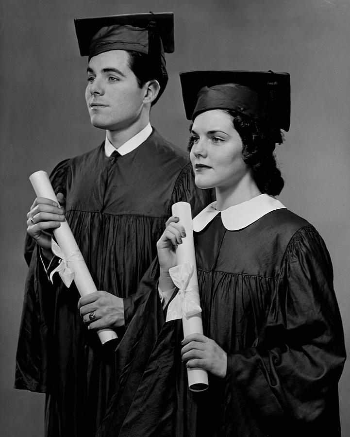 Adult Photograph - College Graduation by George Marks