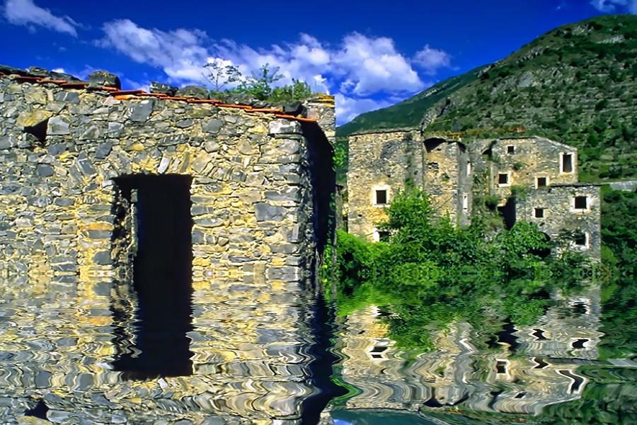 Rural Village Photograph - Colletta Di Castelbianco In Val Pennavaire by Enrico Pelos