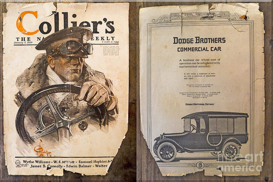 Colliers Cover Both Sides Jan 5 1918 Photograph by Roy Foos