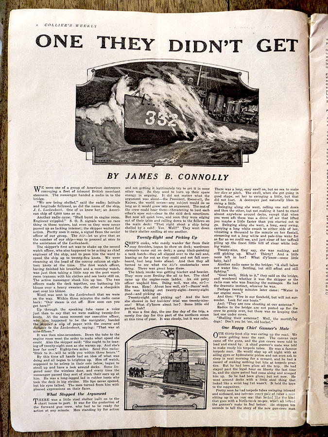 Colliers Magazine Photograph - Colliers Jan 5 1918 Pg 8 by Roy Foos