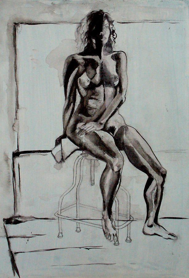 Naked Drawing - Collins by Nina Mirhabibi