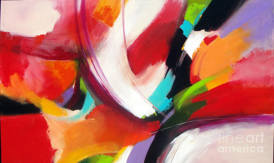 Abstract Painting - Collision by Elaine Callahan