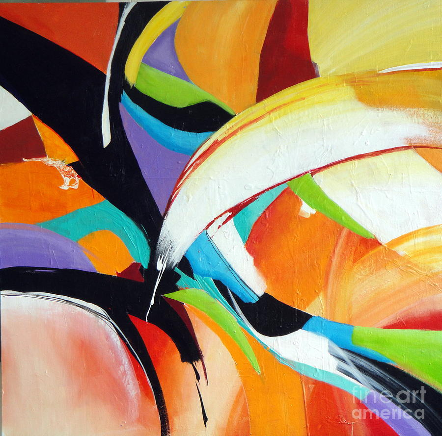 Abstract Painting - Collusion Fusion by Elaine Callahan