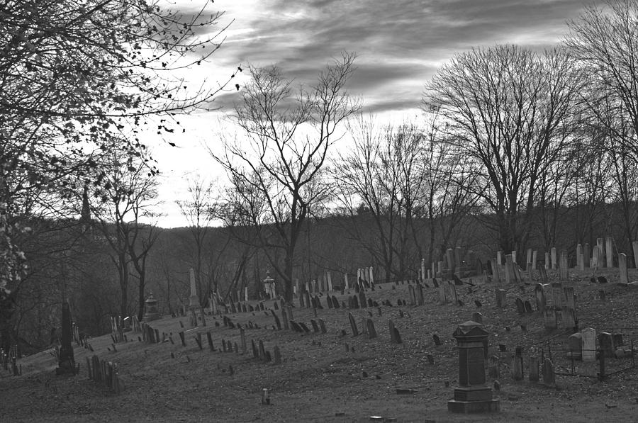 Colonial Cemetery Black And White Photograph by Peter McIntosh