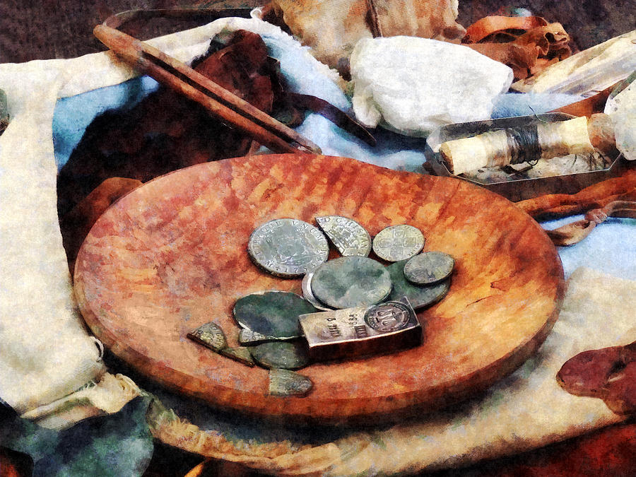 Coin Photograph - Colonial Coins by Susan Savad